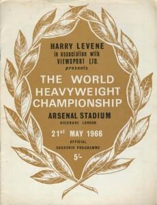 Henry Cooper v Muhammad Ali boxing programme, 1966
