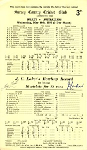 Jim Laker, cricket's Sports Personality of the Year 1955