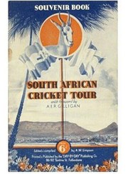 SOUTH AFRICAN CRICKET TOUR OF ENGLAND 1935 SIGNED BROCHURE