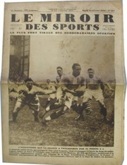 """LE MIROIR DES SPORTS"" (ENGLAND V FRANCE 1930)"