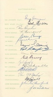 AUSTRALIA 1956 SIGNED CRICKET TOUR ITINERARY
