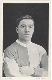 DAN SHEA (WEST HAM UNITED & ENGLAND) C1912 FOOTBALL POSTCARD