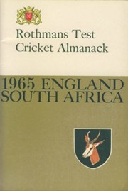 ROTHMANS TEST CRICKET ALMANACK: 1965 ENGLAND – SOUTH AFRICA