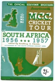 CRICKETERS FROM ENGLAND: OFFICIAL SOUVENIR BROCHURE FOR THE 1956-7 M.C.C. TOUR OF SOUTH AFRICA