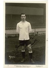 BERT SMITH (TOTTENHAM HOTSPUR) SIGNED FOOTBALL POSTCARD