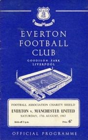 EVERTON V MANCHESTER UNITED 1963 (CHARITY SHIELD) FOOTBALL PROGRAMME