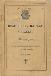 BRADFIELD V RADLEY CRICKET 1853—1920