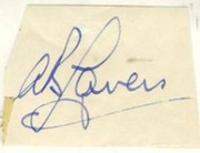 ALAN LAVERS CRICKET AUTOGRAPH