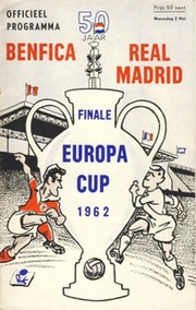 BENFICA V REAL MADRID 1962 (EUROPEAN CUP FINAL) FOOTBALL PROGRAMME
