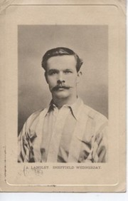 AMBROSE LANGLEY (SHEFFIELD WEDNESDAY) FOOTBALL POSTCARD
