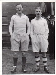 CYRIL HOLMES & DICKIE GUEST (ENGLAND) RUGBY UNION PHOTOGRAPH