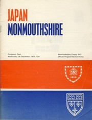 MONMOUTHSHIRE V JAPAN 1973 RUGBY PROGRAMME