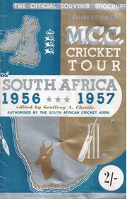 ENGLAND TOUR OF SOUTH AFRICA 1956-57 CRICKET BROCHURE (WESTERN PROVINCE EDITION)