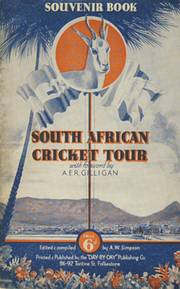 SOUTH AFRICA CRICKET TOUR TO ENGLAND 1935 BROCHURE