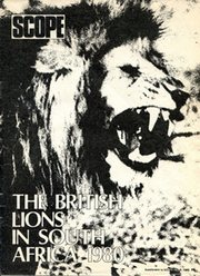 BRITISH LIONS IN SOUTH AFRICA 1980; SUPPLEMENT TO SCOPE