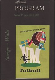 SWEDEN V WALES 1958 (WORLD CUP GROUP 3 MATCH) FOOTBALL PROGRAMME