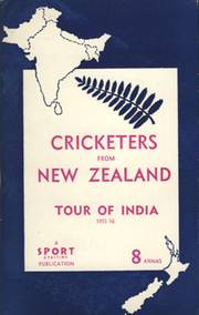 CRICKETERS FROM NEW ZEALAND: TOUR OF INDIA, 1955-56