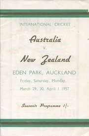 NEW ZEALAND V AUSTRALIA 1957 (3RD TEST, EDEN PARK)