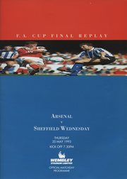 ARSENAL V SHEFFIELD WEDNESDAY 1993 (F.A. CUP FINAL REPLAY) FOOTBALL PROGRAMME