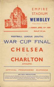 CHELSEA V CHARLTON ATHLETIC 1944 (WARTIME CUP FINAL) FOOTBALL PROGRAMME