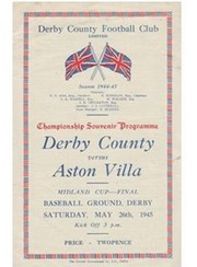 DERBY COUNTY V ASTON VILLA 1945 (WARTIME CUP FINAL) FOOTBALL PROGRAMME