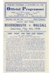 BOURNEMOUTH V WALSALL 1946 (SOUTH CUP FINAL) FOOTBALL PROGRAMME