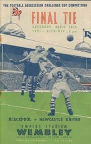 BLACKPOOL V NEWCASTLE UNITED 1951 (F.A. CUP FINAL) FOOTBALL PROGRAMME