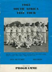1965 SOUTH AFRICA TEST TOUR SOUVENIR PROGRAMME