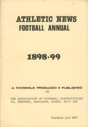ATHLETIC NEWS FOOTBALL ANNUAL 1898-99 (FACSIMILE EDITION)