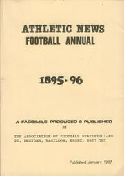 ATHLETIC NEWS FOOTBALL ANNUAL 1895-96 (FACSIMILE EDITION)