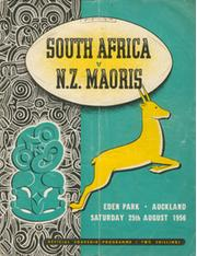 NEW ZEALAND MAORIS V SOUTH AFRICA 1956 RUGBY PROGRAMME