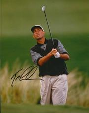 TOM LEHMAN SIGNED GOLF PHOTOGRAPH