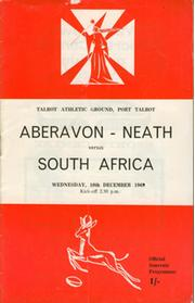 ABERAVON-NEATH V SOUTH AFRICA 1969/70 RUGBY PROGRAMME