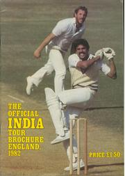 THE OFFICIAL INDIA TOUR BROCHURE ENGLAND, 1982