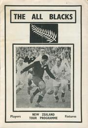 THE ALL BLACKS (1967) RUGBY TOUR PROGRAMME