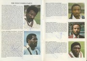 ENGLAND V WEST INDIES 1984 (OVAL) SIGNED CRICKET PROGRAMME