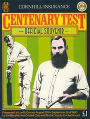 ENGLAND V AUSTRALIA (LORDS) 1980 CENTENARY TEST CRICKET PROGRAMME