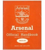 ARSENAL FOOTBALL CLUB 1954-55 OFFICIAL HANDBOOK