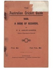 THE AUSTRALIAN CRICKET GUIDE 1930: A BOOK OF RECORDS