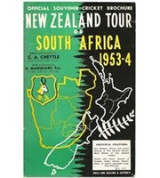 NEW ZEALAND TOUR OF SOUTH AFRICA 1953-54: OFFICIAL SOUVENIR CRICKET BROCHURE