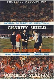 LIVERPOOL V MANCHESTER UNITED 1977 (CHARITY SHIELD) FOOTBALL PROGRAMME