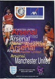 ARSENAL V MANCHESTER UNITED 1998 (CHARITY SHIELD) FOOTBALL PROGRAMME