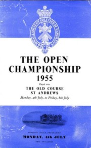 OPEN CHAMPIONSHIP 1955 (ST. ANDREWS) GOLF PROGRAMME - SIGNED BY THOMSON