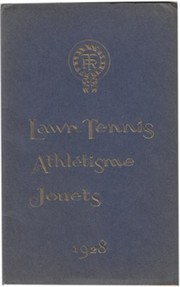 LAWN TENNIS ATHLETIC JOUETS CATALOGUE 1928
