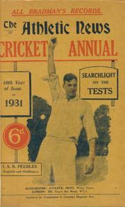 ATHLETIC NEWS CRICKET ANNUAL 1931