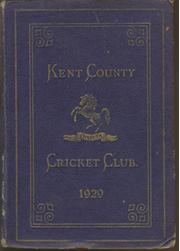 KENT COUNTY CRICKET CLUB 1929 [BLUE BOOK]