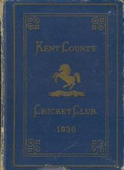 KENT COUNTY CRICKET CLUB 1930 [BLUE BOOK]