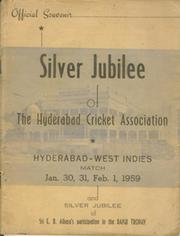 HYDERABAD V WEST INDIES 1959 CRICKET PROGRAMME
