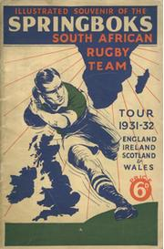 ILLUSTRATED SOUVENIR OF THE 1931-1932 SPRINGBOKS SOUTH AFRICAN RUGBY TEAM TOUR 1931 - 1932
