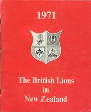1971. THE BRITISH LIONS IN NEW ZEALAND